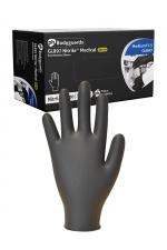 100 gants médicaux en Nitrile noir : Boite de 100 gants fins de qualité médicale en nitrile, sans latex, compatible avec la plupart des lubrifiants.