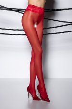 Collants ouverts TI008 - rouge