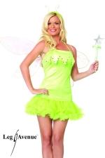 Costume sexy Elfe : Costume d'Elfe : robe à jupon, baguette magique et serre-tête.