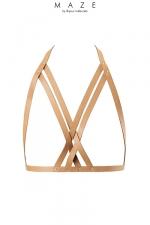 Harnais soutien-gorge marron - Maze : Le soutien-gorge avec courroie MAZE se marie parfaitement avec vos meilleurs ensembles, votre lingerie ou a même la peau.