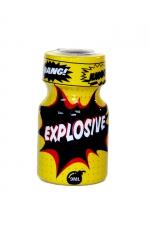 Poppers Explosive 9ml : Arôme aphrodisiaque à effet immédiat, à base de nitrite de propyle, en flacon de poche de 9 ml.