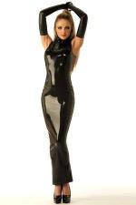 Robe Sirène zippée en latex : Robe forme Sirène en latex véritable, zippée dans le dos.